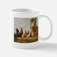 Barnyard Roosters Mugs