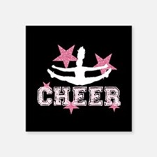 Pink Allstar Cheerleader Sticker