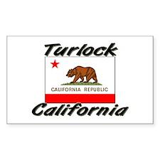 Turlock California Rectangle Decal