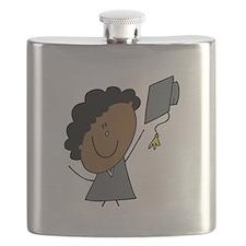 Stick Girl Grad Flask