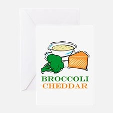 Broccoli Cheddar Soup Greeting Card