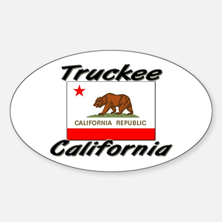 Truckee California Oval Decal