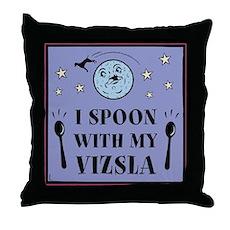 I Spoon With My Vizsla -Throw Pillow