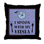 I Spoon With My Vizsla -Throw Pillow