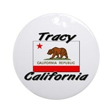 Tracy California Ornament (Round)