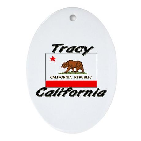 Tracy California Oval Ornament