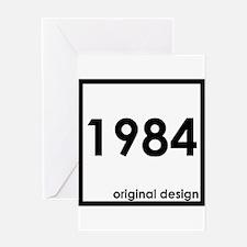 1984 year birthday original designs Greeting Cards