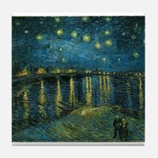 Starry Night over the Rhone Tile Coaster