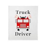Truck Driver Throw Blanket