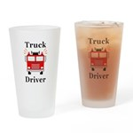 Truck Driver Drinking Glass