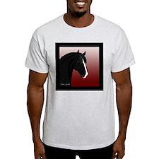 Black Horse (#6) Ash Grey T-Shirt