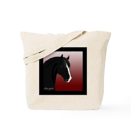 Black Horse (#6) Tote Bag