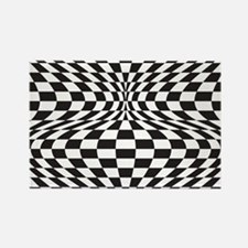 Op Art Checks Magnets