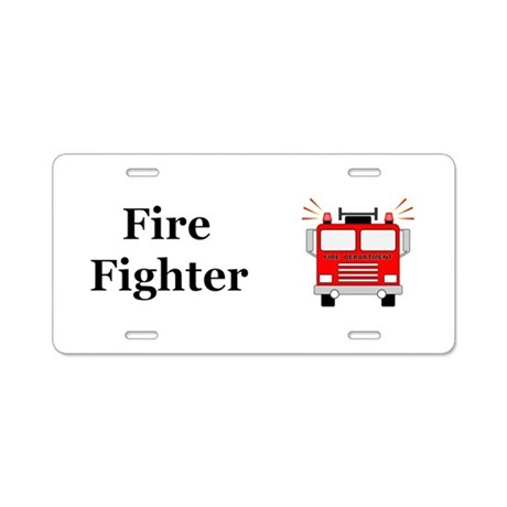 Fire Fighter Aluminum License Plate by NiftyFolks