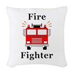 Fire Fighter Woven Throw Pillow