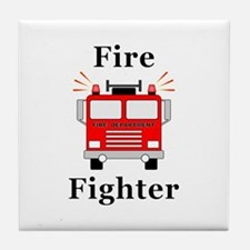Fire Fighter Tile Coaster