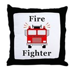 Fire Fighter Throw Pillow