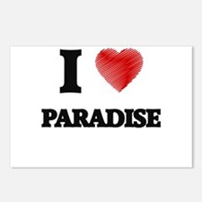 I Love Paradise Postcards (Package of 8)