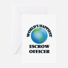 World's Happiest Escrow Officer s Greeting Cards
