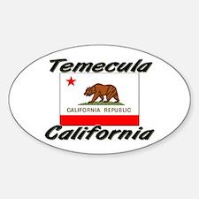 Temecula California Oval Decal