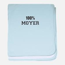 100% MOYER baby blanket
