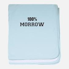 100% MORROW baby blanket