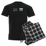 Truck Driver Men's Dark Pajamas