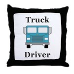 Truck Driver Throw Pillow