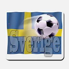 Soccer Flag Sverige Mousepad