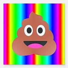 "Funny Poop Square Car Magnet 3"" x 3"""