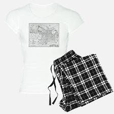 Vintage Map of Savannah Geo Pajamas