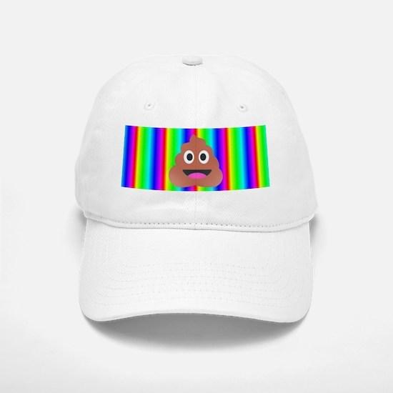 rainbow poop emoji Cap