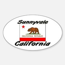 Sunnyvale California Oval Decal