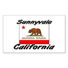 Sunnyvale California Rectangle Decal