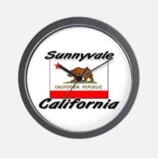 Sunnyvale California Wall Clock