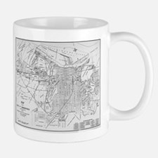Vintage Map of Savannah Georgia (1910) Mugs