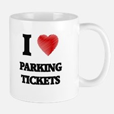 I Love Parking Tickets Mugs