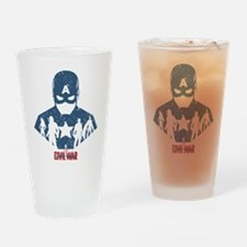 Team Captain America Silhouettes Drinking Glass