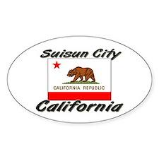 Suisun City California Oval Decal