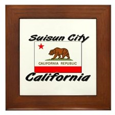 Suisun City California Framed Tile