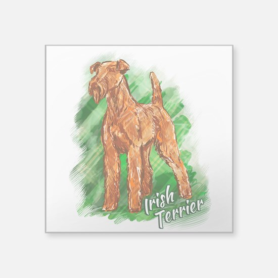 "Irish Terrier Square Sticker 3"" x 3"""