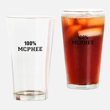 100% MCPHEE Drinking Glass