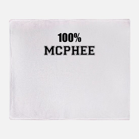 100% MCPHEE Throw Blanket