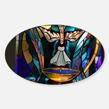stained glass window blue Decal