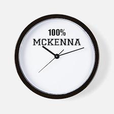100% MCKENNA Wall Clock