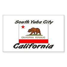 South Yuba City California Rectangle Decal