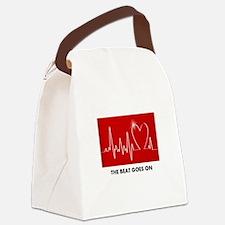 Unique Heart Canvas Lunch Bag