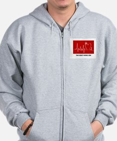 The Beat Goes On - Post Heart Attack Zip Hoodie