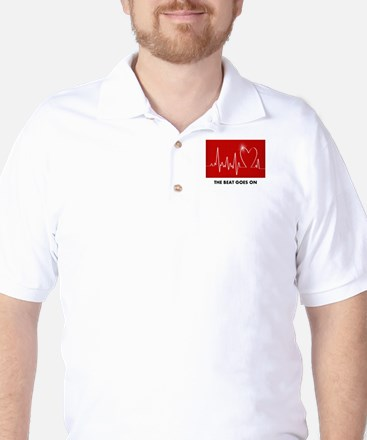 The Beat Goes On - Post Heart Attack Golf Shirt