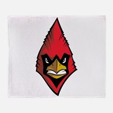 Cardinal Mascot Throw Blanket